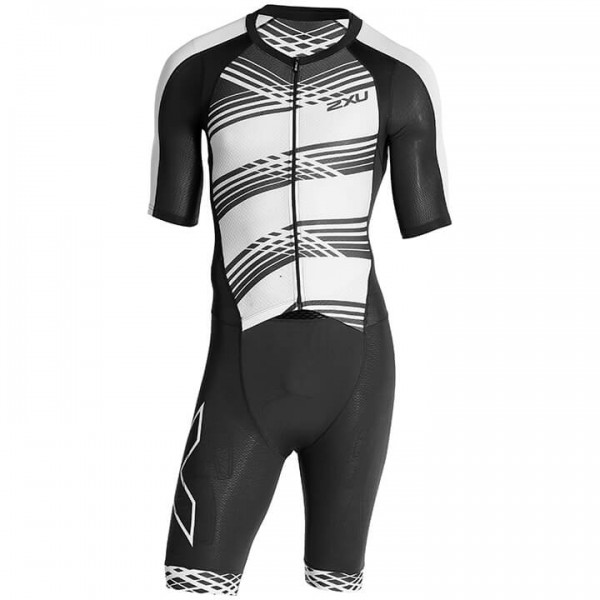 Traje triatlón 2XU Compression blanco - negro