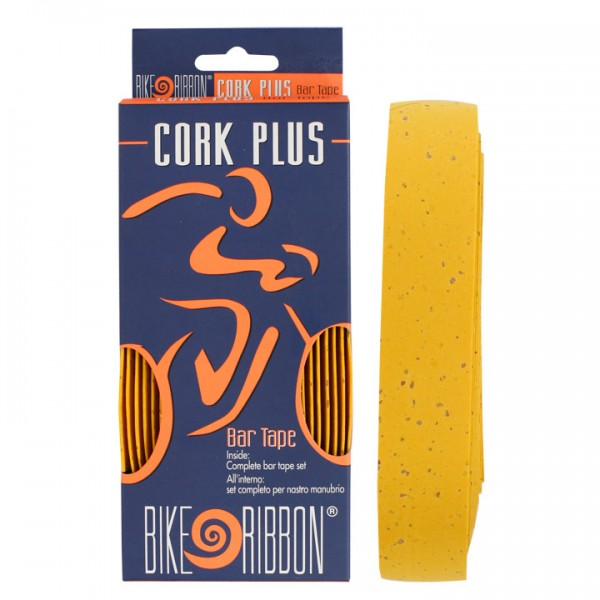 Banda de manillar BIKE RIBBON Cork-Plus amarilla