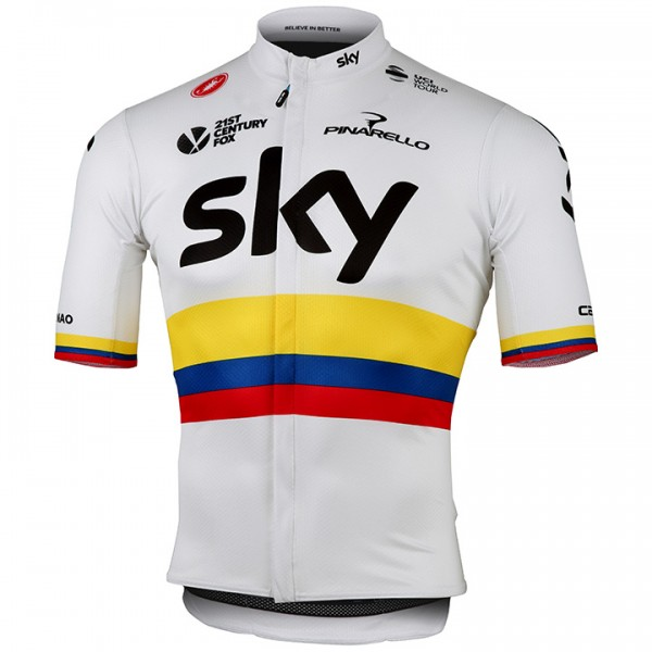 Maillot mangas cortas TEAM SKY Campeón colombiano 2017