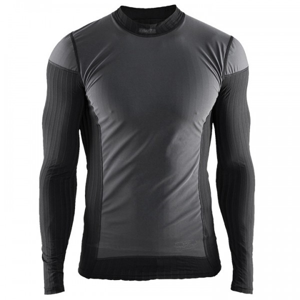 Camiseta interior mangas largas CRAFT Active Extreme 2.0 Windstopper negra-gris