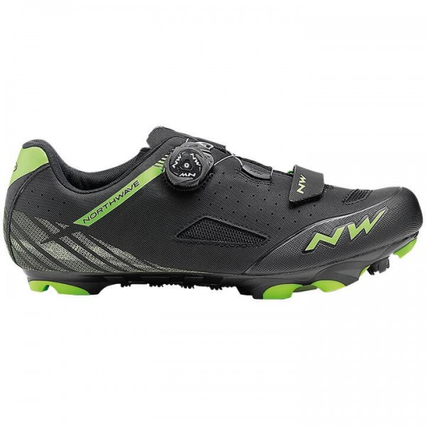Zapatillas BTT NORTHWAVE Origin Plus 2019 negro - verde
