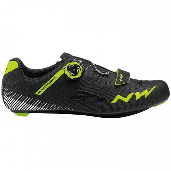 Zapatillas carretera NORTHWAVE Core Plus 2019 amarillo neón - negro