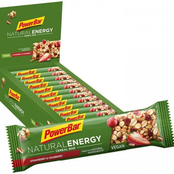 Barrita POWERBAR Natural Energy Cereal Strawberry Cranberry 24 unidades/caja