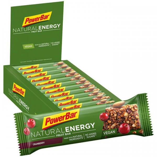 Barrita POWERBAR Natural Energy Fruit Cranberry 24 unidades/caja