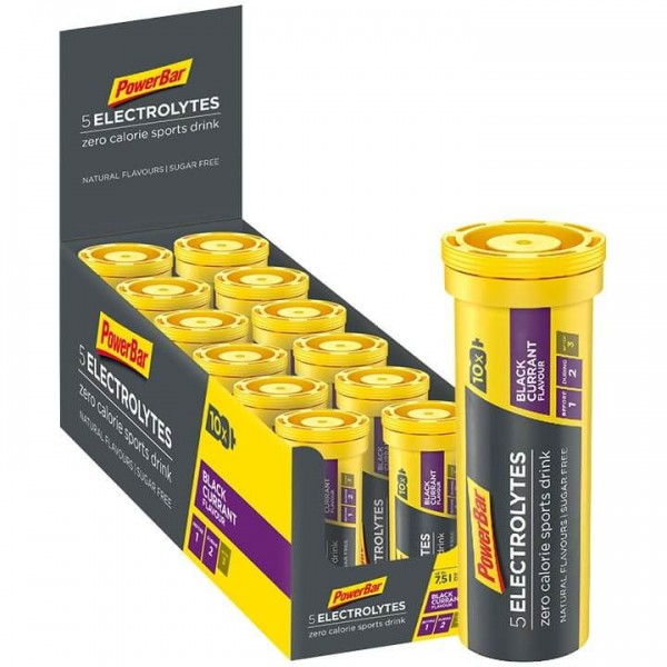 Tabletas efervescentes POWERBAR 5Electrolytes Black Currant