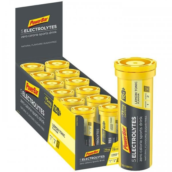 Tabletas efervescentes POWERBAR 5Electrolytes Lemon Tonic Boost + cafeína