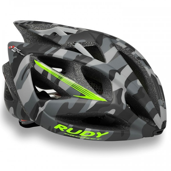 Casco RUDY PROJECT Airstorm grey camo-lime fluo matte