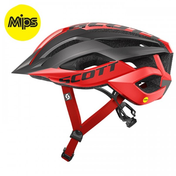 Casco BTT SCOTT Arx Plus 2019 negro - rojo